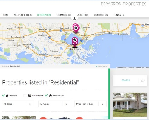 Esparros Properties - Property Listings Page