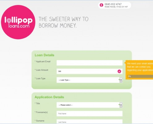 Lollipop Loans - Loan Application