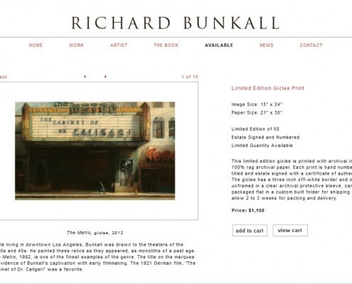 Richard Bunkall - Sale Page